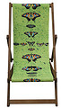 Butterflies on Green, Designer Deckchair