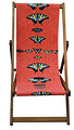 Butterflies on Red, Designer Deckchair