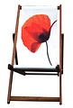 White Poppy, Designer Deckchair