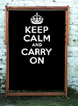 Keep Calm and Carry on Black Wideboy Deckchair