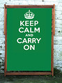 Keep Calm and Carry On Green Wideboy Deckchair