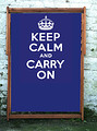 Keep Calm and Carry On Blue Wideboy Deckchair