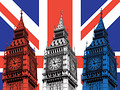 Big Ben Union Jack Pop Art Canvas Print