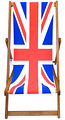 Union Jack Designer Deckchair patriotic design