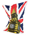 Large Beanbag 1x1.5m with Big Ben and Union Jack popart design