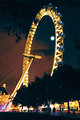 London Eye With Moon