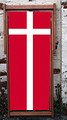 National flaf of Denmark, called Dannebrog, designer deckchair.