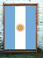 Sun of May flag of Argentina Designer Wideboy Deckchair
