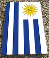 Sun of May flay for Uruguay Design Beanbag