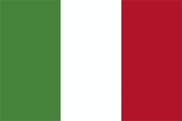 Italian national flag - known as Bandiera D'Italia. - World Cup deckchair designs